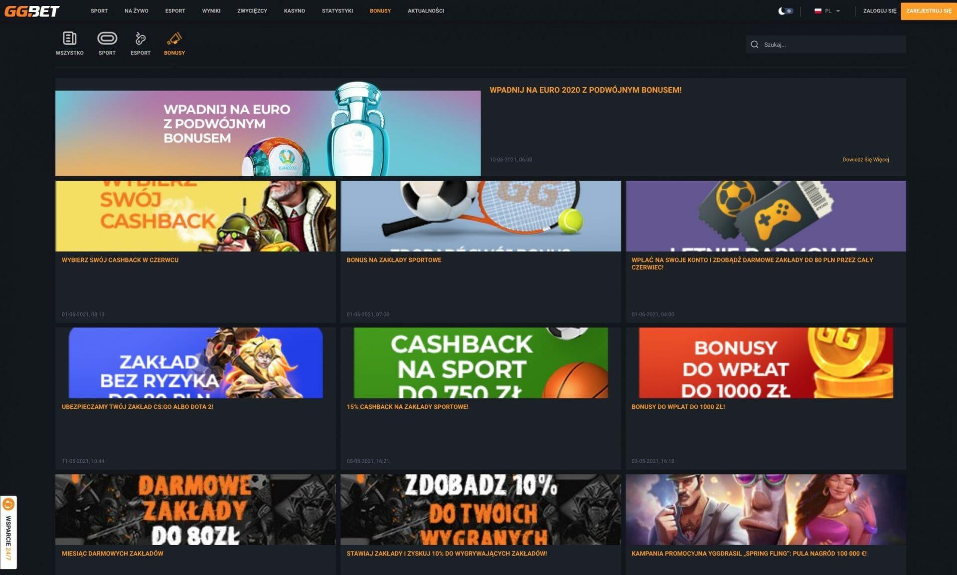 GGBet bonus page pl