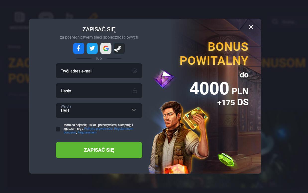 GGbetet bonus powitalny