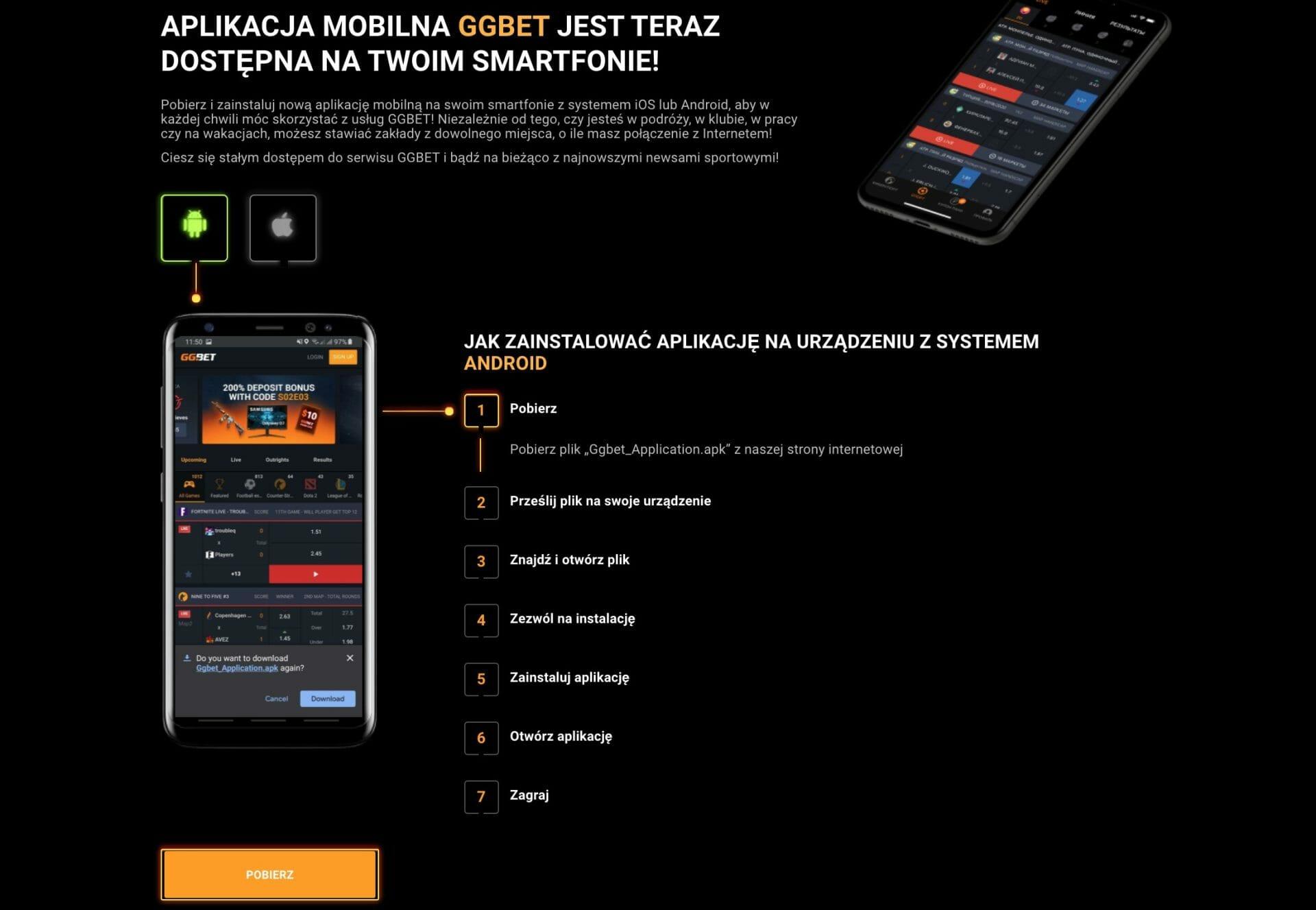 GGBet Aplikacja Mobilna